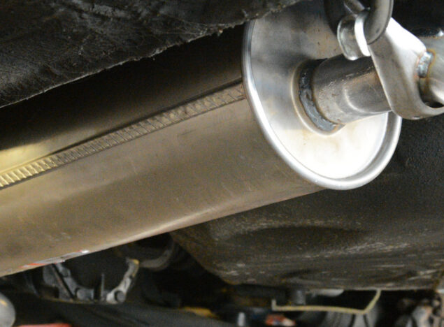 Exhaust fitting in neston